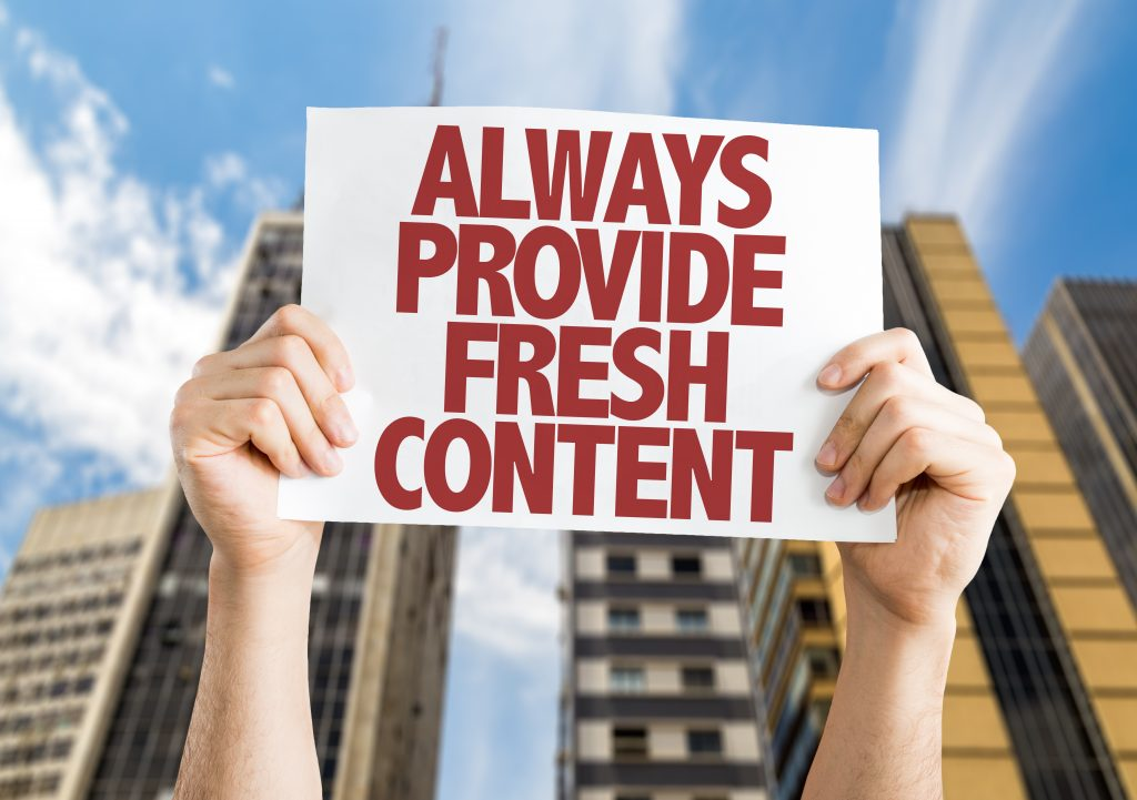 provide fresh content